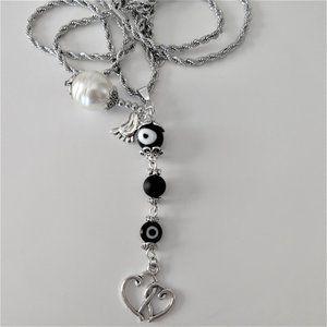 Long Evil Eye Necklace/Pregnancy Necklace